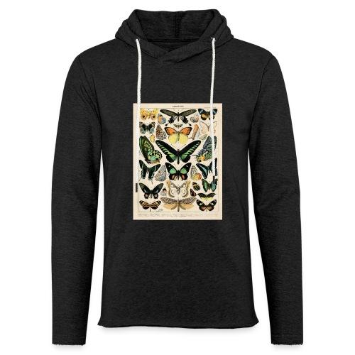 Schmetterlings Arten - Leichtes Kapuzensweatshirt Unisex