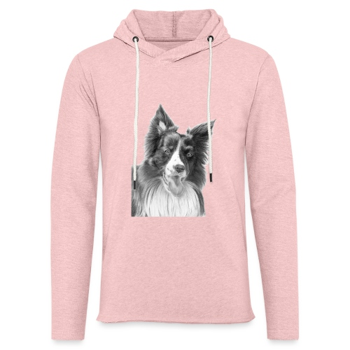border collie 3 - Let sweatshirt med hætte, unisex