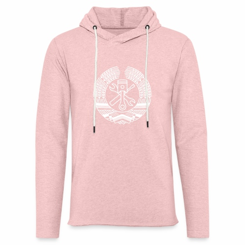 DDR Tuning Coat of Arms 1c (+ Your Text) - Light Unisex Sweatshirt Hoodie