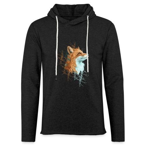 Happy the Fox - Leichtes Kapuzensweatshirt Unisex