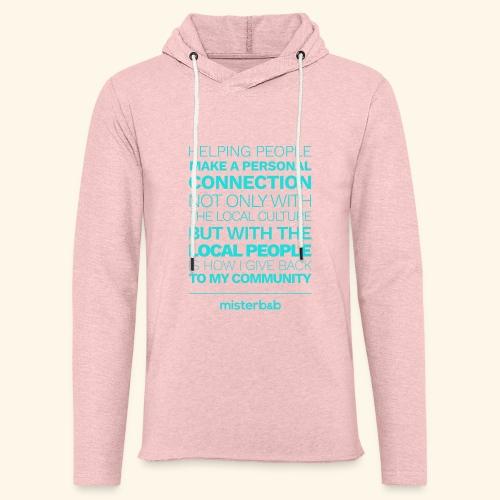 misterb&b - Sweat-shirt à capuche léger unisexe