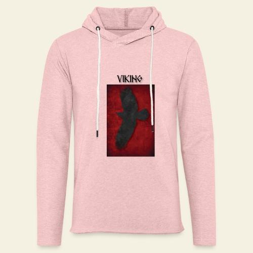 ravneflaget viking - Let sweatshirt med hætte, unisex