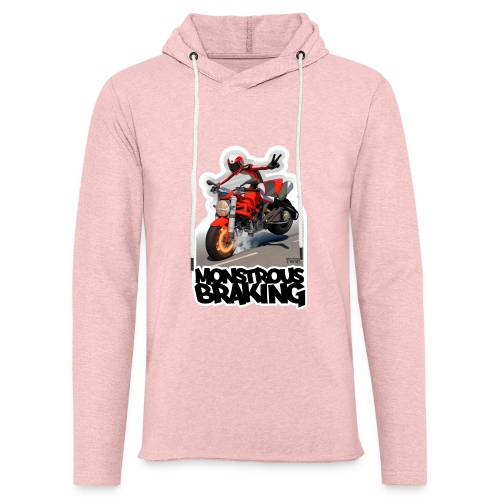 Ducati Monster, a motorcycle stoppie. - Sudadera ligera unisex con capucha