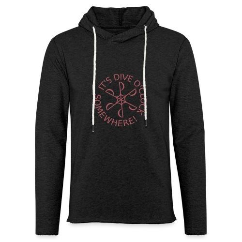 Dive o clock Dark Pink - Light Unisex Sweatshirt Hoodie