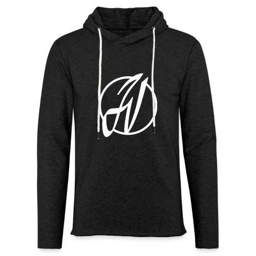 JV Guitars - logo blanc - Sweat-shirt à capuche léger unisexe