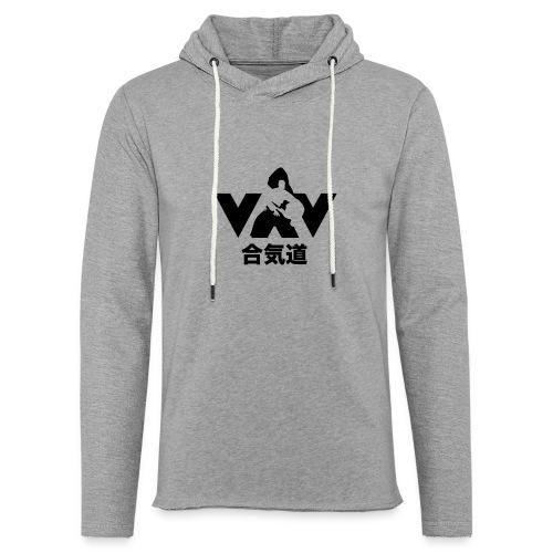 aikido zwart - Lichte hoodie unisex