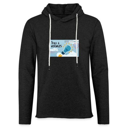 astuces mansour - Sweat-shirt à capuche léger unisexe