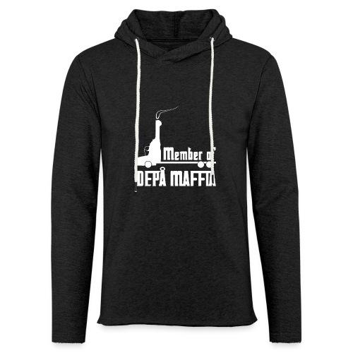 Depå Maffia vitt tryck - Lätt luvtröja unisex