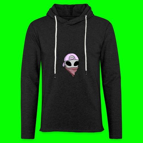 gangsta alien logo - Felpa con cappuccio leggera unisex