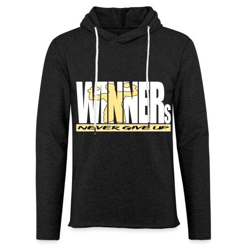 WINNERs NEVER GIVE UP - Leichtes Kapuzensweatshirt Unisex
