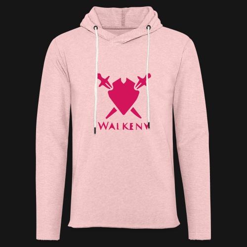 Das Walkeny Logo mit dem Schwert in PINK! - Leichtes Kapuzensweatshirt Unisex