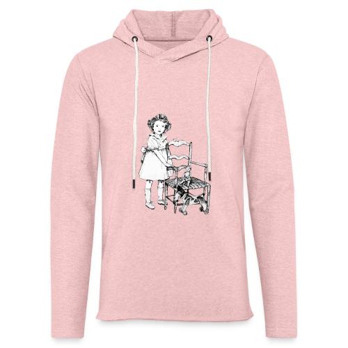 Nelly et sa chaise - Sweat-shirt à capuche léger unisexe