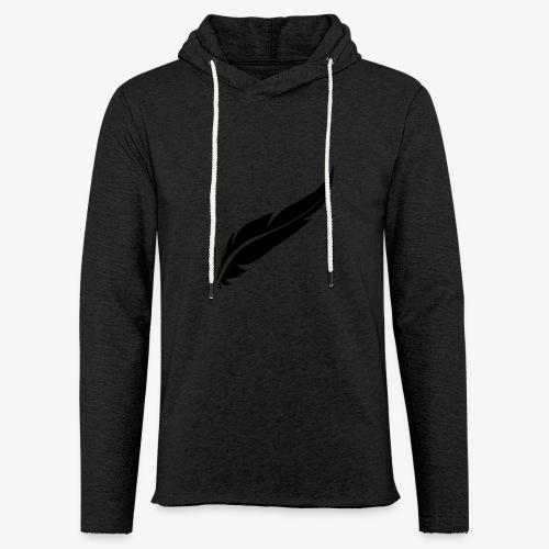 logo plume black - Sweat-shirt à capuche léger unisexe