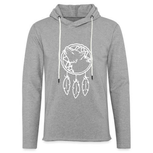 Wolf Dreamcatcher - Leichtes Kapuzensweatshirt Unisex