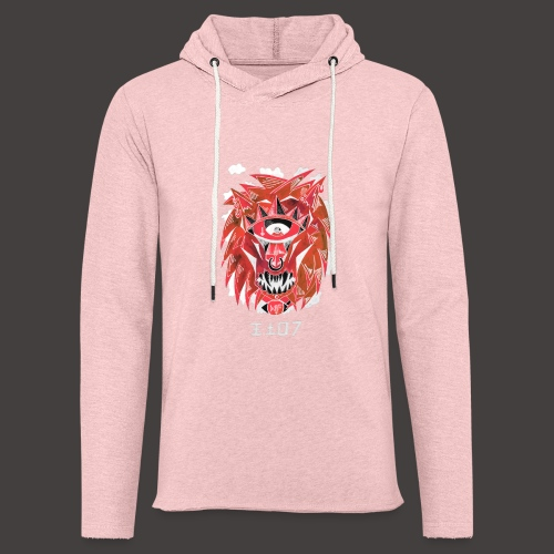 lion Négutif - Sweat-shirt à capuche léger unisexe