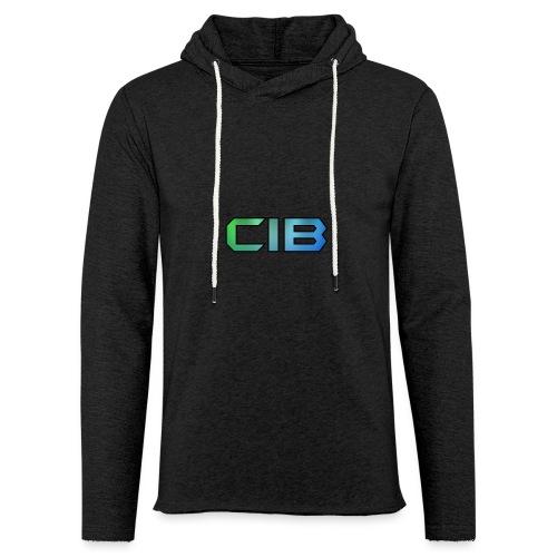CuzImBacon Grønn og Blå logo - Lett unisex hette-sweatshirt