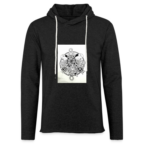 guerriere celtique entrelacs bretagne femme - Sweat-shirt à capuche léger unisexe