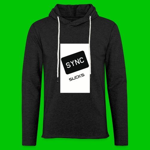t-shirt-DIETRO_SYNK_SUCKS-jpg - Felpa con cappuccio leggera unisex