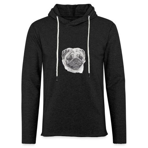 Pug mops 2 - Let sweatshirt med hætte, unisex