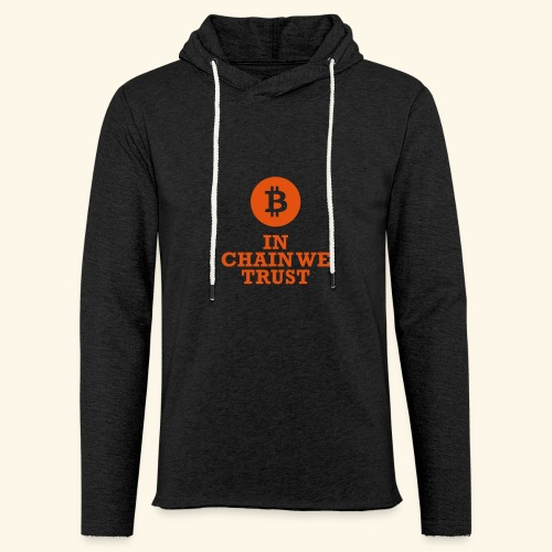 Bitcoin: In chain we trust - Leichtes Kapuzensweatshirt Unisex