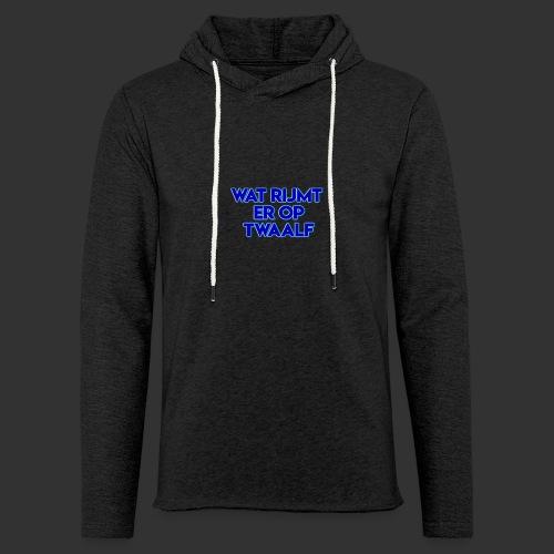 wat rijmt er op twaalf - Lichte hoodie unisex