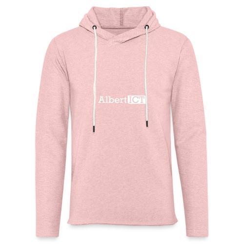 AlbertICT wit logo - Lichte hoodie unisex