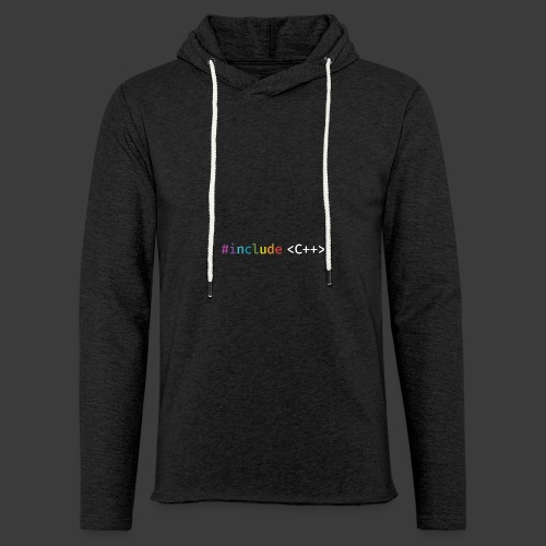 rainbow for dark background - Light Unisex Sweatshirt Hoodie