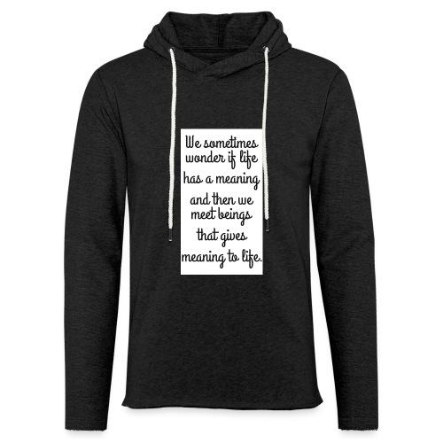 Phrase d'amour en anglais - Sweat-shirt à capuche léger unisexe