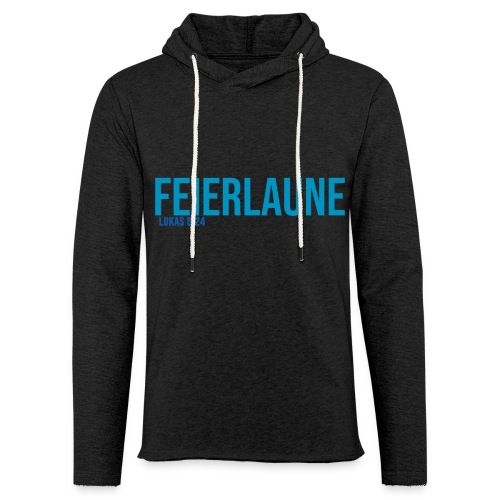 FEIERLAUNE - Print in blau - Leichtes Kapuzensweatshirt Unisex