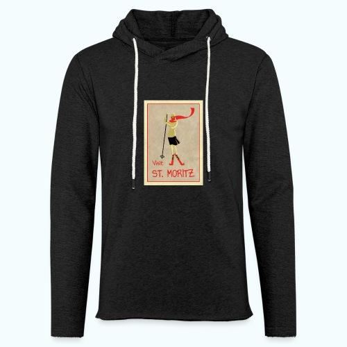 Vintage Retro Reise Plakat St Moritz - Light Unisex Sweatshirt Hoodie