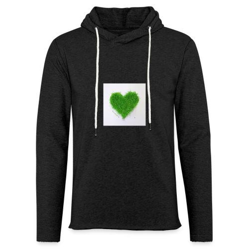 Herzrasen Button - Leichtes Kapuzensweatshirt Unisex