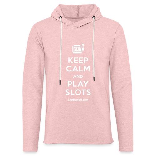 Keep Calm and Play Slots - Light Unisex Sweatshirt Hoodie