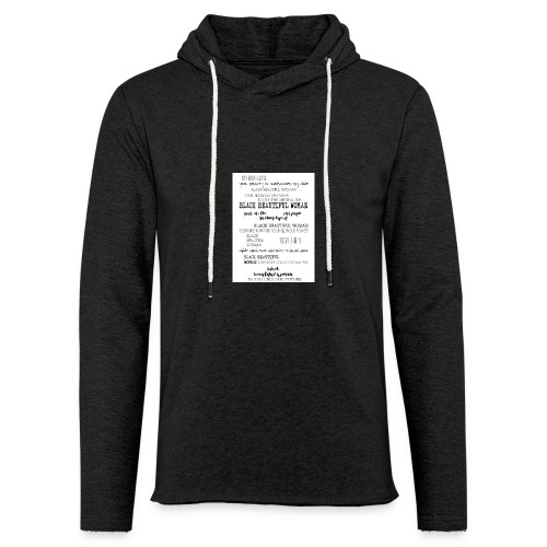 Beautiful Black Woman - Light Unisex Sweatshirt Hoodie