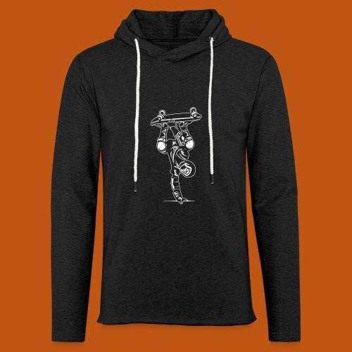 Skater / Skateboarder 02_weiß - Leichtes Kapuzensweatshirt Unisex