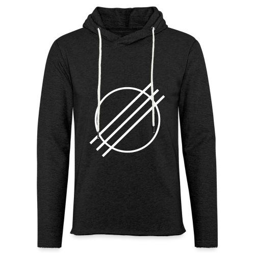 DJ Øyvind Offisiell Logo (hvit) - Lett unisex hette-sweatshirt