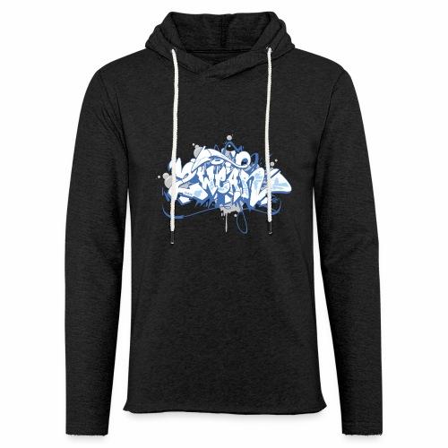 Dae 2Wear graffiti style ver01 blue edt - Let sweatshirt med hætte, unisex