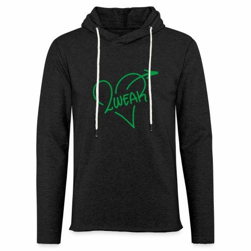 Love for a green life - Let sweatshirt med hætte, unisex