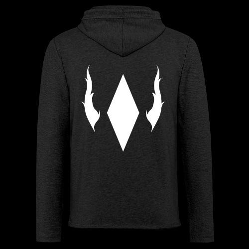 Crystal With Wings WGDK Hvid - Let sweatshirt med hætte, unisex