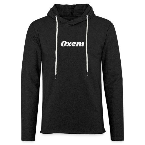 oxem logo blanc - Sweat-shirt à capuche léger unisexe