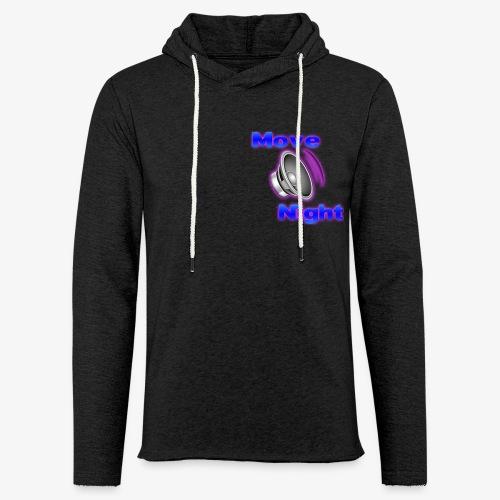 Logo-Move-Night-4096px2 - Sweat-shirt à capuche léger unisexe