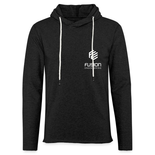 Fusion logo in white on both sides - Lichte hoodie unisex