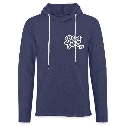2-LOGO-BLANC-BLUES-PARTY- - Sweat-shirt à capuche léger unisexe