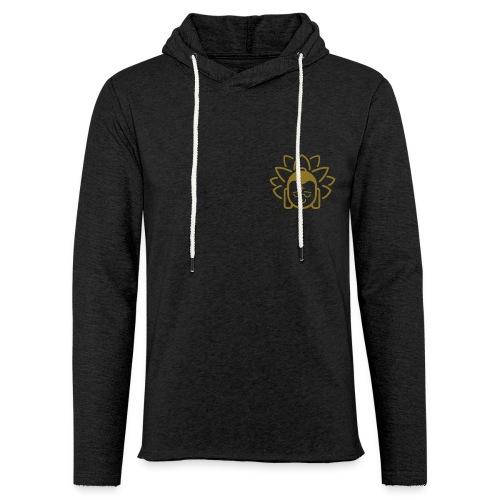 Boeddha hoofd blad - Lichte hoodie unisex