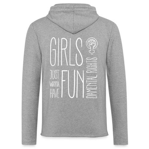 Girls just wanna have fundamental rights - Leichtes Kapuzensweatshirt Unisex