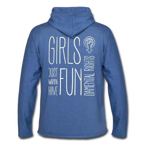 Girls just wanna have fundamental rights - Leichtes Kapuzensweatshirt Unisex