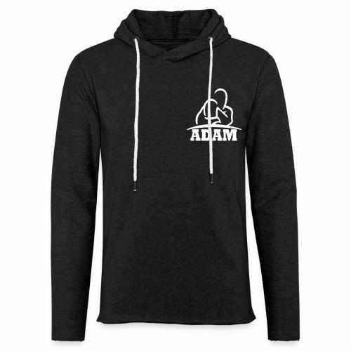 Logo Adam blanc - Sweat-shirt à capuche léger unisexe