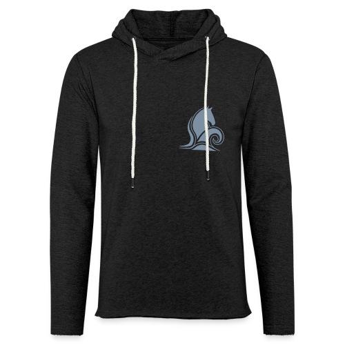 Skumrytter Logo, vorne und hinten - Leichtes Kapuzensweatshirt Unisex