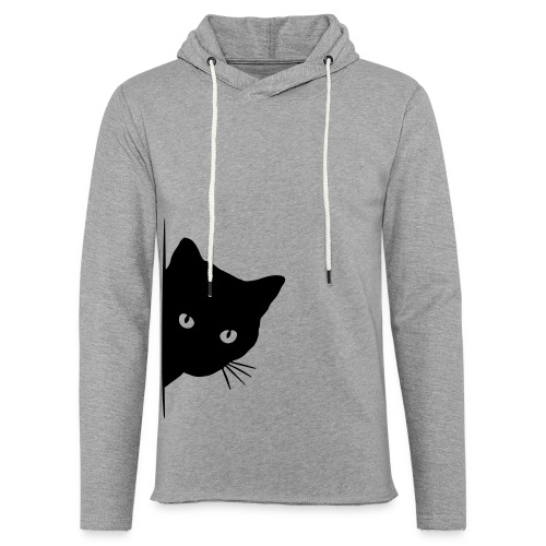 Vorschau: peeking cat - Leichtes Kapuzensweatshirt Unisex