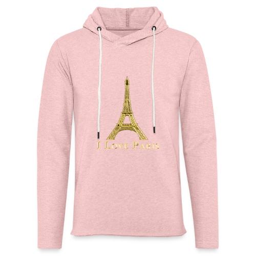 Design Paris I love paris - Sweat-shirt à capuche léger unisexe
