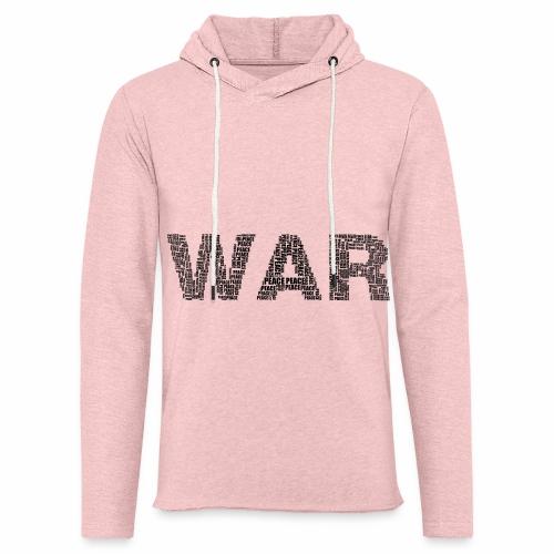 Napis stylizowany War and Peace - Lekka bluza z kapturem
